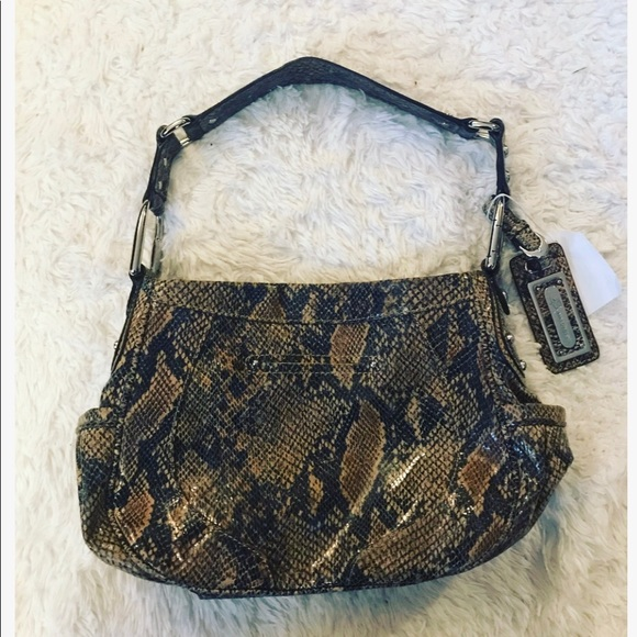 b. makowsky Handbags - B Makowsky Snake Print Shoulder Bag